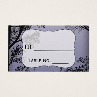 Evening Forest Metallic Wedding Place Cards