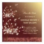 Evening Garden Dandelions Save the Date Invitation