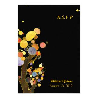 Evening Garden Trees Modern Wedding RSVP Card