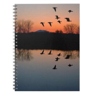 Evening Geese Notebook