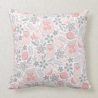 Evening Glass of Pink Lemonade Throw Pillow