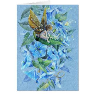 Evening Glory Flower Fairy Card