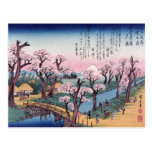 Evening Glow at Koganei Bridge, Ando Hiroshige Post Card