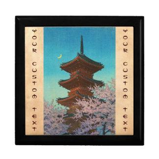 Evening Glow in Spring Ueno Toshogu Shrine Keepsake Box