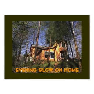Evening Glow on Home Poster