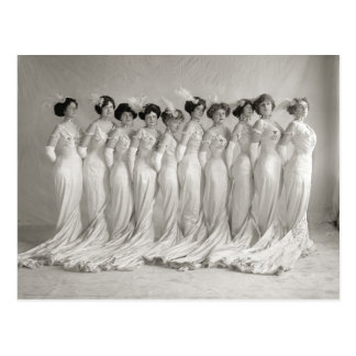 Evening Gowns, 1910 Postcard