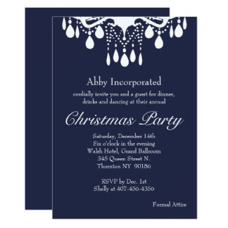 Evening Grand Ballroom Christmas Party Invitation