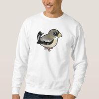 Evening Grosbeak female Men's Basic Sweatshirt