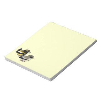Evening Grosbeak pair Memo Note Pad