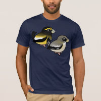 Evening Grosbeak pair Men's Basic American Apparel T-Shirt