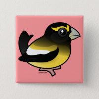 Evening Grosbeak male Square Button