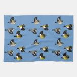 Evening Grosbeaks in Flight Hand Towel