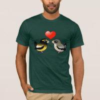 Evening Grosbeaks in love Men's Basic American Apparel T-Shirt