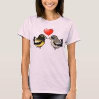 Evening Grosbeaks in love Women's Basic T-Shirt