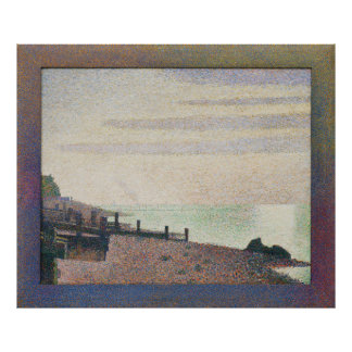 Evening Honfleur by Georges Seurat Poster