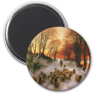 Evening Hours 2 Inch Round Magnet