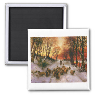 Evening Hours 2 Inch Square Magnet