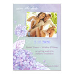 Evening Hydrangeas Floral Photo Save the Date Card