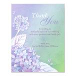 Evening Hydrangeas Wedding Thank You Card
