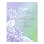 Evening Hydrangeas Wedding Thank You Card