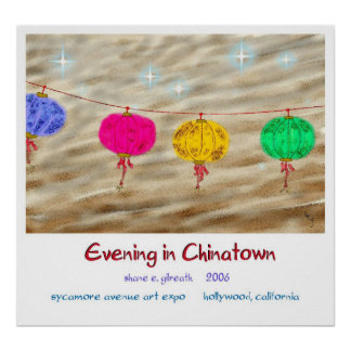 EVENING IN CHINATOWN POSTER