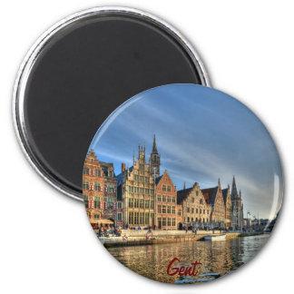 Evening in Gent 2 Inch Round Magnet