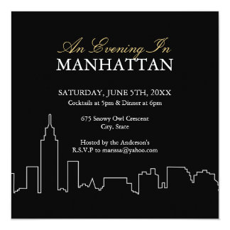 Evening in Manhattan - Custom Invite