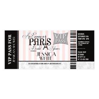 Evening in Paris Bridal Shower Invitations