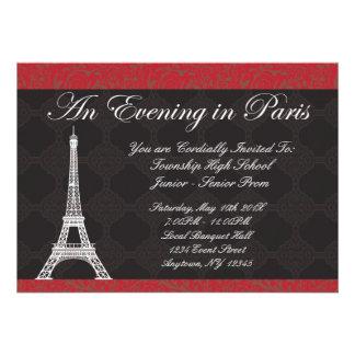 a night in paris invitations