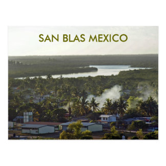 Evening in San Blas Mexico Postcard