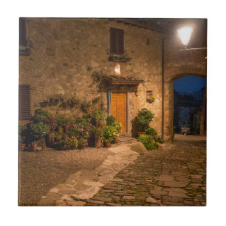 Evening in the ancient hillside town ceramic tile