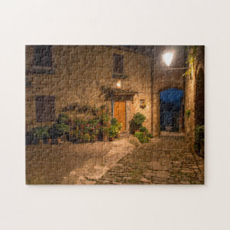 Evening in the ancient hillside town jigsaw puzzle
