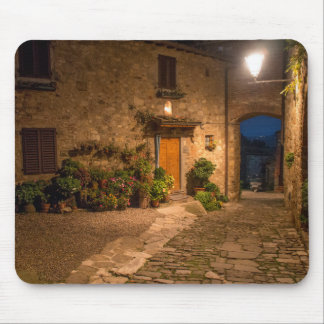 Evening in the ancient hillside town mouse pad