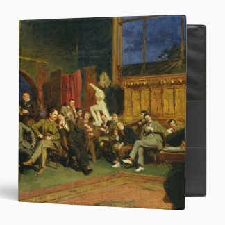 Evening in the Studio with my Students, 1886 3 Ring Binder