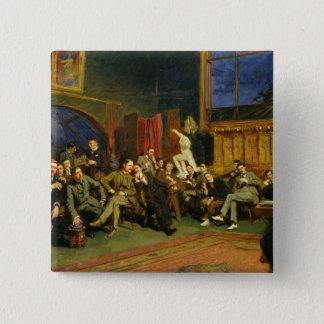 Evening in the Studio with my Students, 1886 Pinback Button