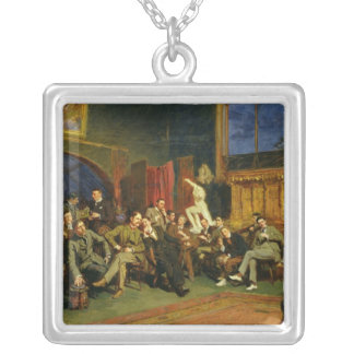 Evening in the Studio with my Students, 1886 Silver Plated Necklace