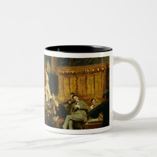 Evening in the Studio with my Students, 1886 Two-Tone Coffee Mug
