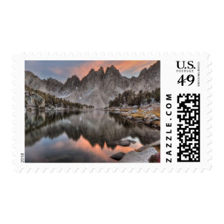 Evening Kearsarge Pinnacles Reflections Postage Stamp