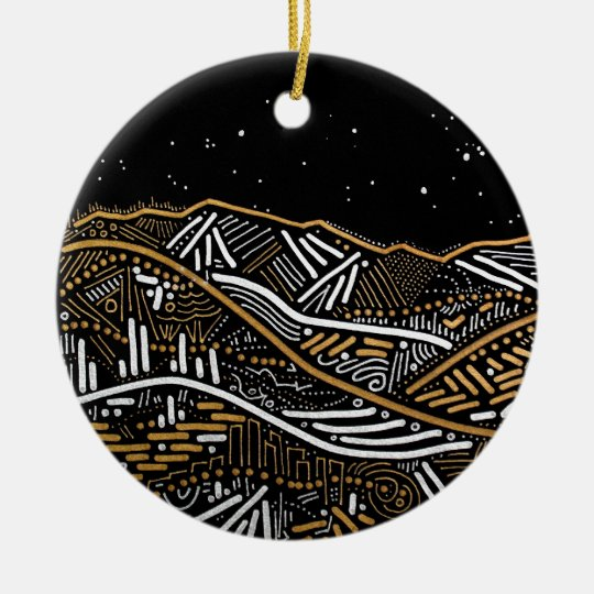 Evening Landscape Holiday Ornament
