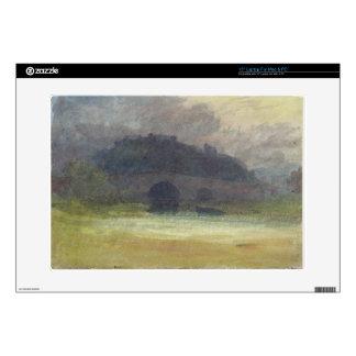 "Evening Landscape with Castle and Bridge in Yorksh 15"" Laptop Skin"
