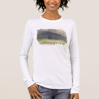 Evening Landscape with Castle and Bridge in Yorksh Long Sleeve T-Shirt