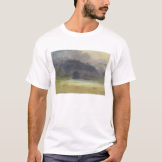 Evening Landscape with Castle and Bridge in Yorksh T-Shirt