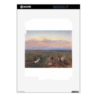 Evening landscape with herd of goats by Ferdinand Decal For The iPad 2