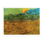 Evening Landscape with Rising Moon Postcard