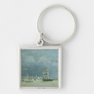 Evening, Le Havre, 1866 (oil on canvas) Keychain