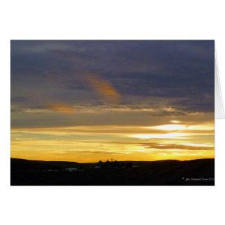 Evening light card