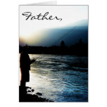 Evening Light Fisherman Greeting Cards