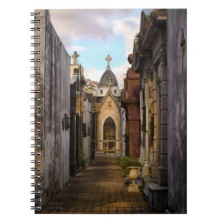 Evening Light In Recoleta Cemetery Notebook