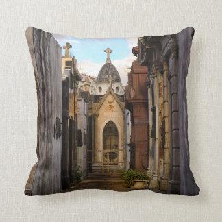 Evening Light In Recoleta Cemetery Throw Pillow