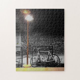 Evening Light on Bicycle Photograph Jigsaw Puzzle